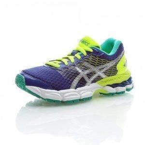 Asics Gel-Nimbus 18 Gs Junior Neutraalit Juoksukengät Sininen / Keltainen