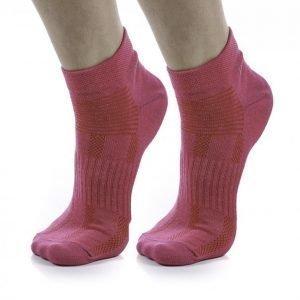 Blacc 2-Pack Run Sock Color Juoksusukat Roosa