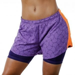 Craft Focus 2-In-1 Shorts Juoksushortsit Lila / Oranssi