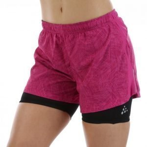 Craft Focus 2-In-1 Shorts Juoksushortsit Roosa