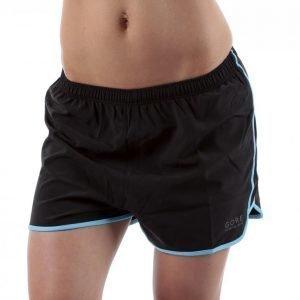 Gore Running Wear Essential Lady Split Shorts Juoksushortsit Musta / Vaaleansininen
