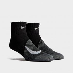 Nike Running Elite Lightweight Quarter Juoksusukat Musta