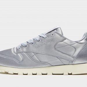 Reebok Classic Leather Satin Juoksukengät Hopea