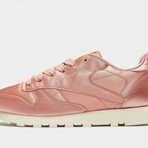 Reebok Classic Leather Satin Juoksukengät Vaaleanpunainen